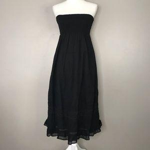 NWT AEO strapless smocked tiered maxi dress